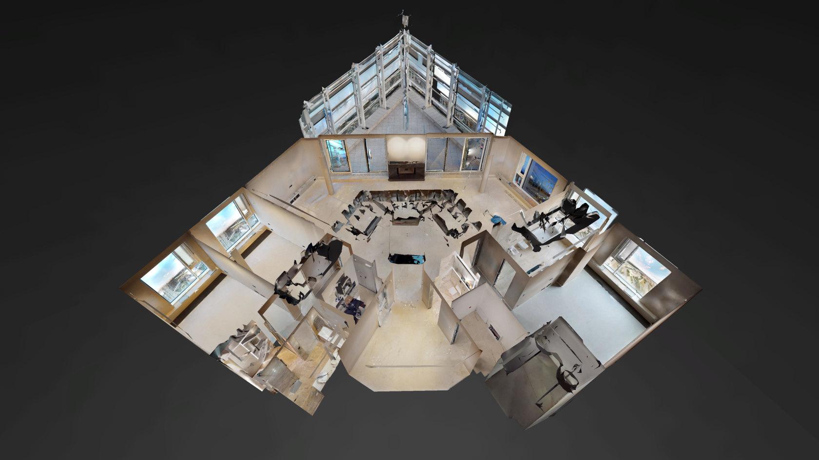 3D model z 3D virtuálnej prehliadky penthousu v Panorama Towers - Eurovea City