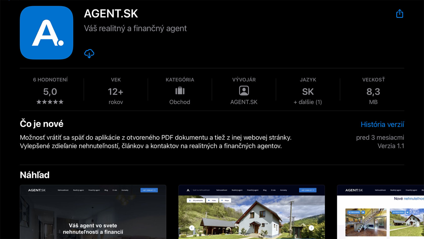 aplikácia AGENT.SK