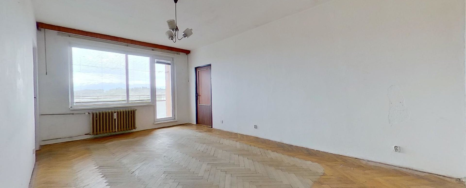 Obývacia izba v pôvodnom stave