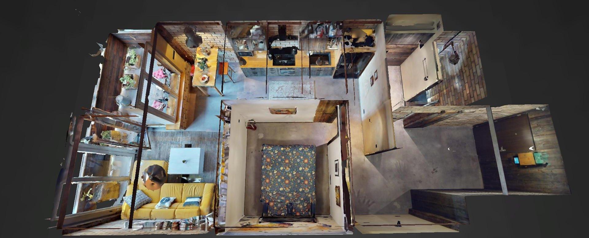 3D pôdorys bytu v Boria na Dieňovej ulici