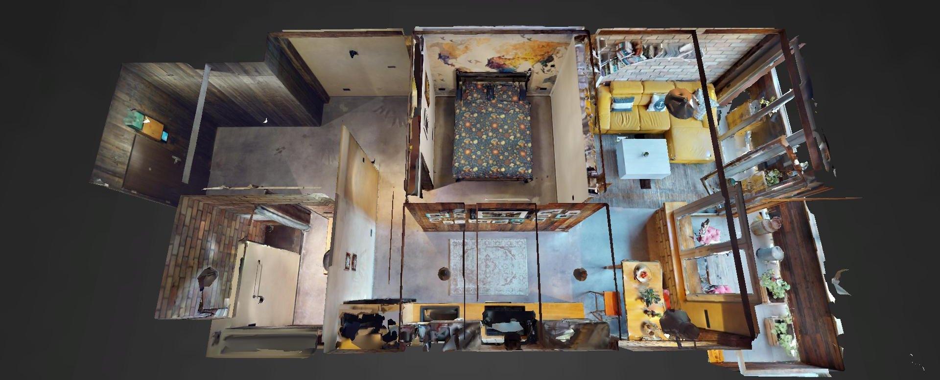 3D pôdorys bytu na Dieňovej ulici