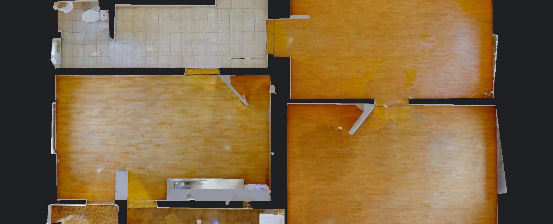 Pôdorys 2-izbového bytu