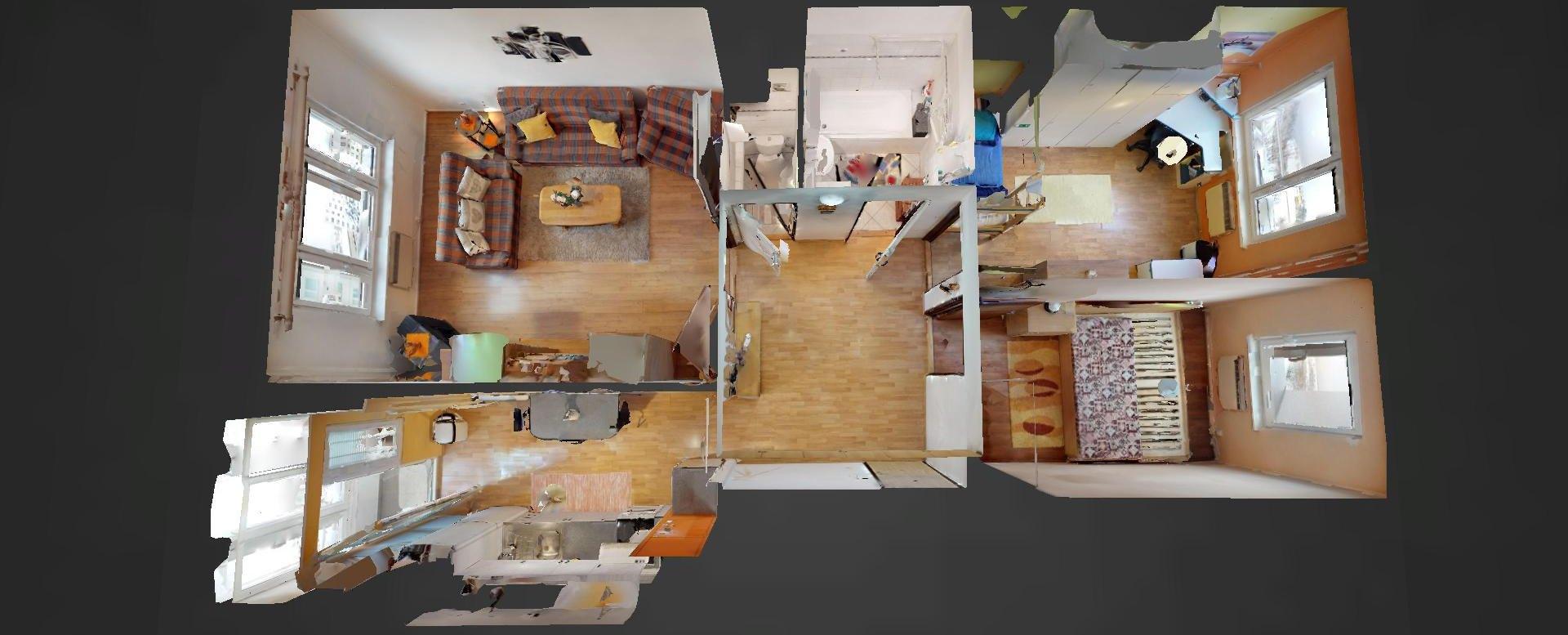 3D pôdorys 3-izbového bytu na Okružnej v Čadci