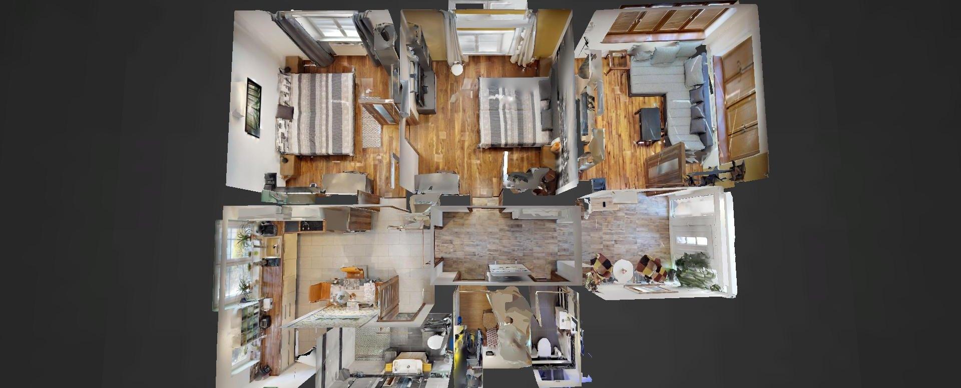 3D pôdorys 3-izbového bytu