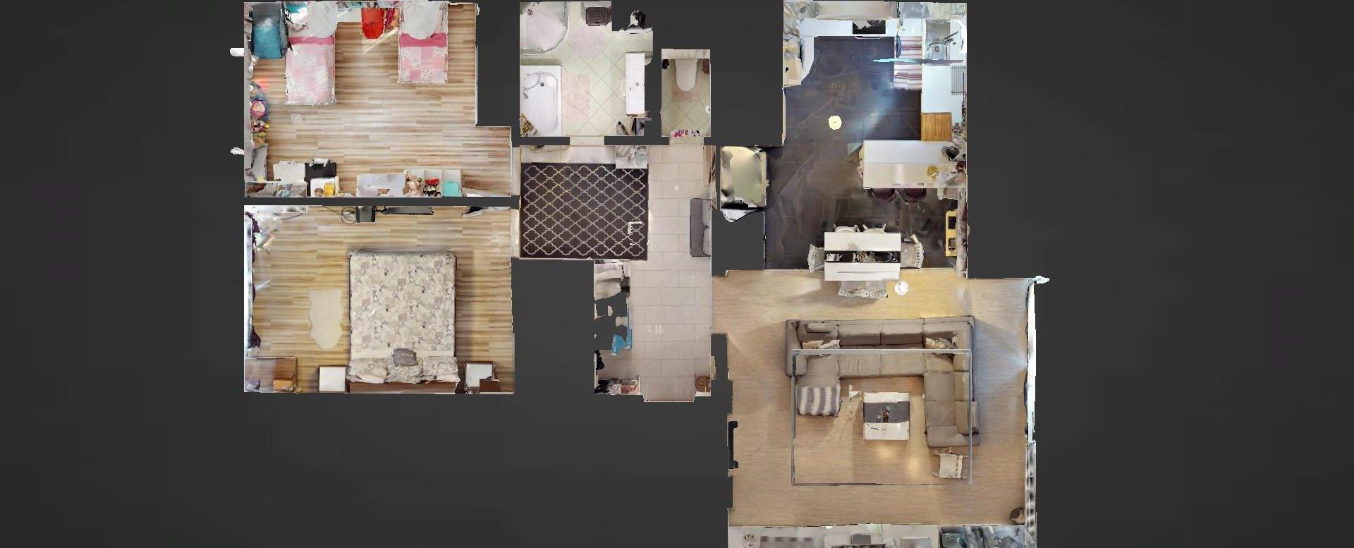 Pôdorys 3-izbového bytu v Kysuckom Lieskovci