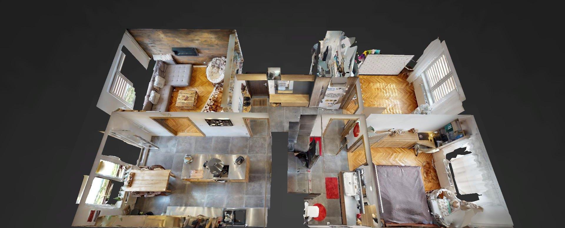 3D pôdorys 3-izbového bytu na sídlisku Žarec v Čadci