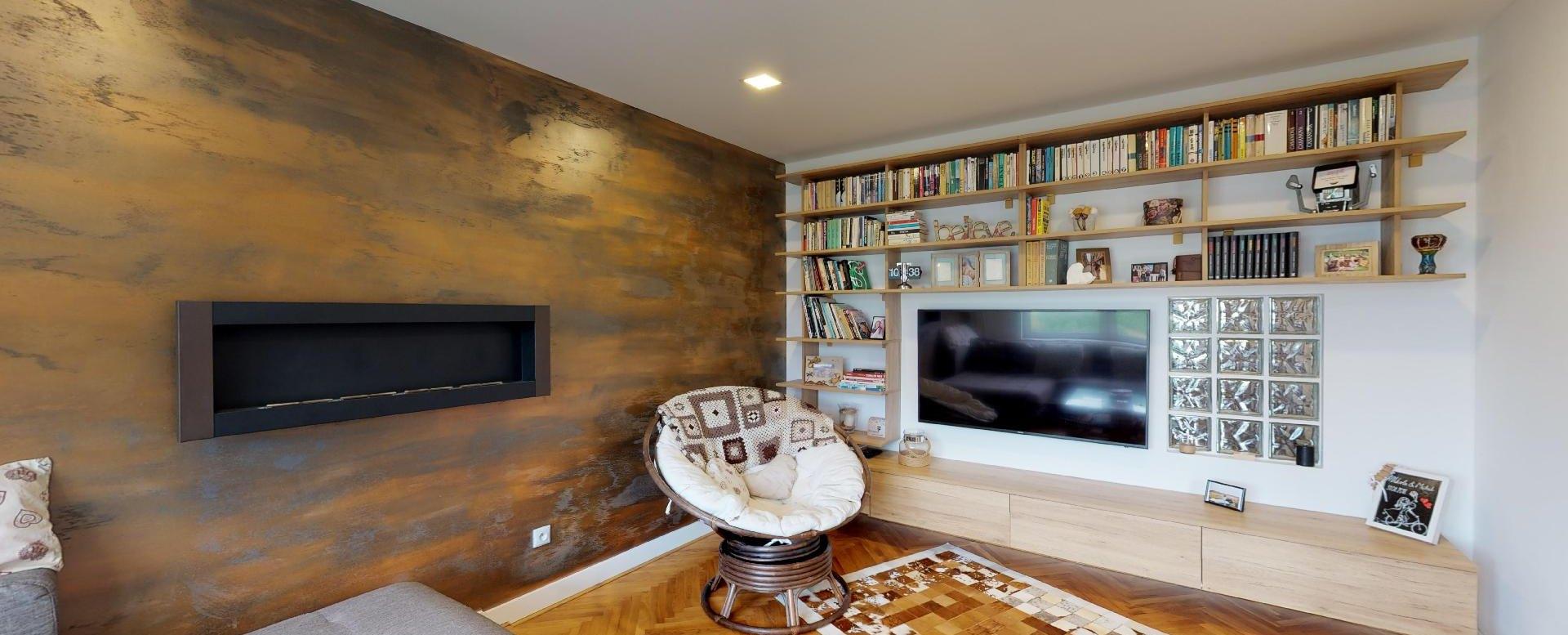 Obývacia izba s TV