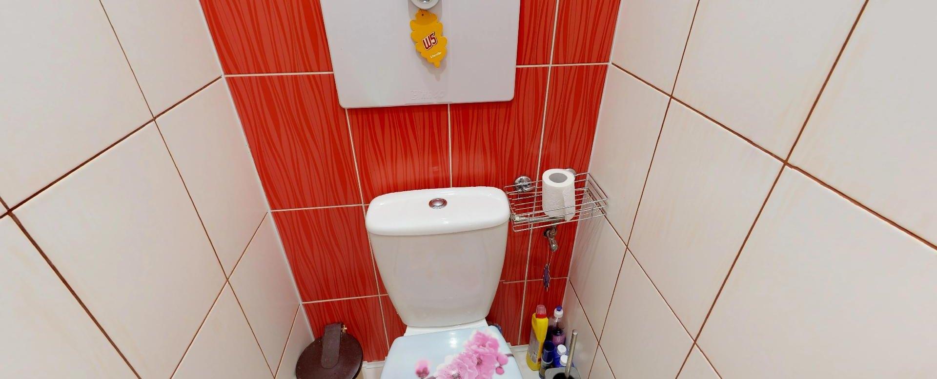 Toaleta 3-izbového bytu v Čadci