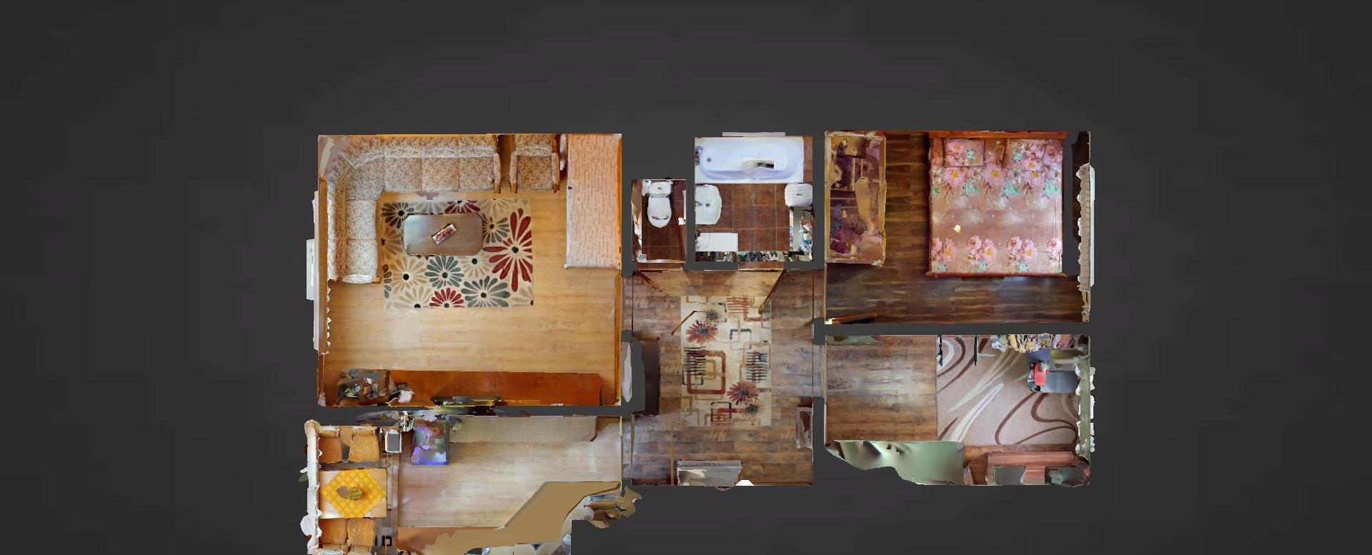 Pôdorys 3-izbového bytu na Okružnej ul. v Čadci