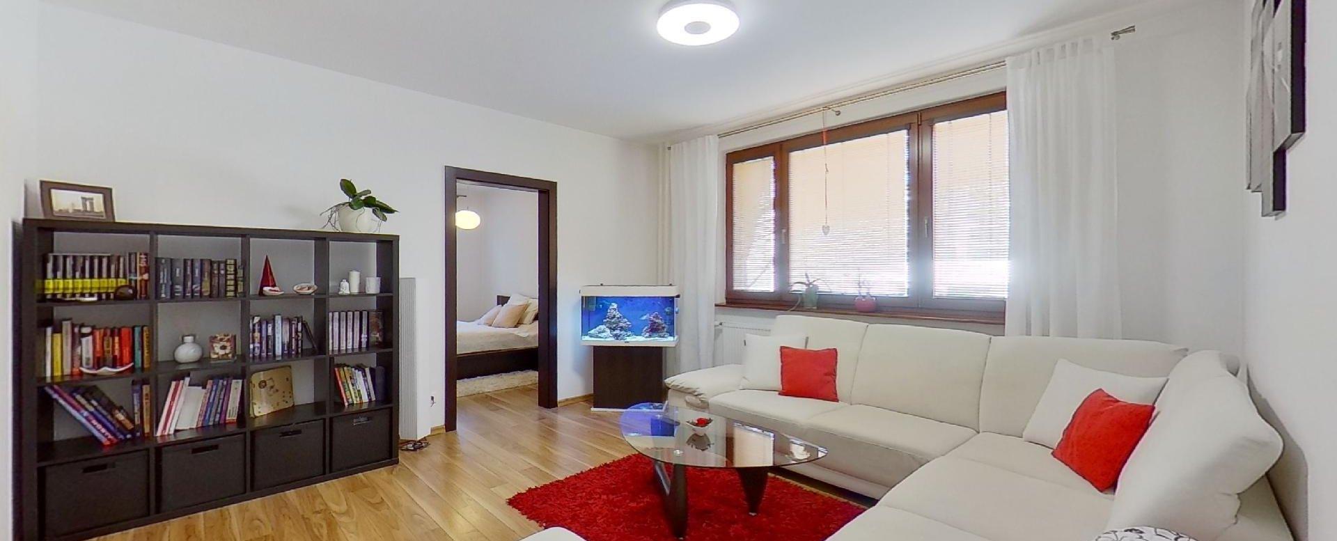 Obývacie 3-izbového bytu na  Borovej ulici v Žiline - Solinky
