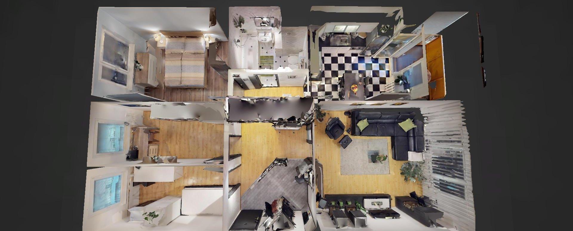 3D pôdorys 4-izbového bytu na ulici Milana Marečka v Devínskej Novej Vsi