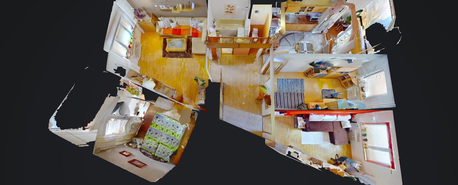3D pôdorys 4-izbového bytu na Jedlikovej v Žiline - Hájik