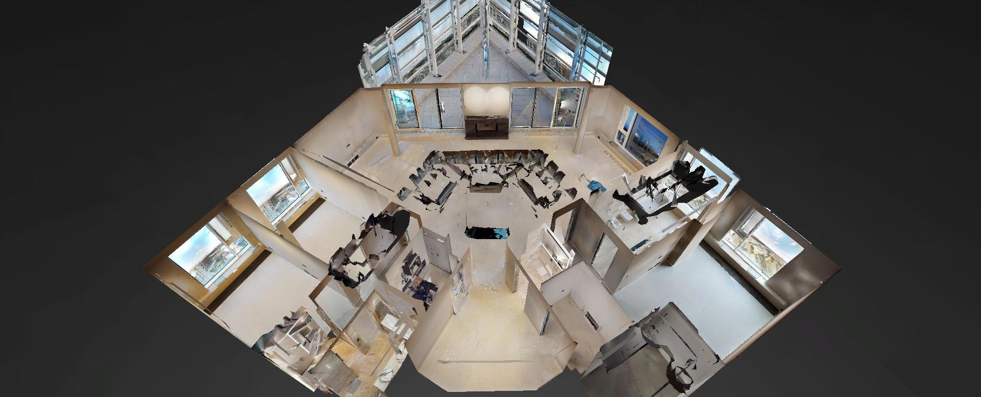 3D pôdorys penthousu v Panorama Towers - Eurovea City