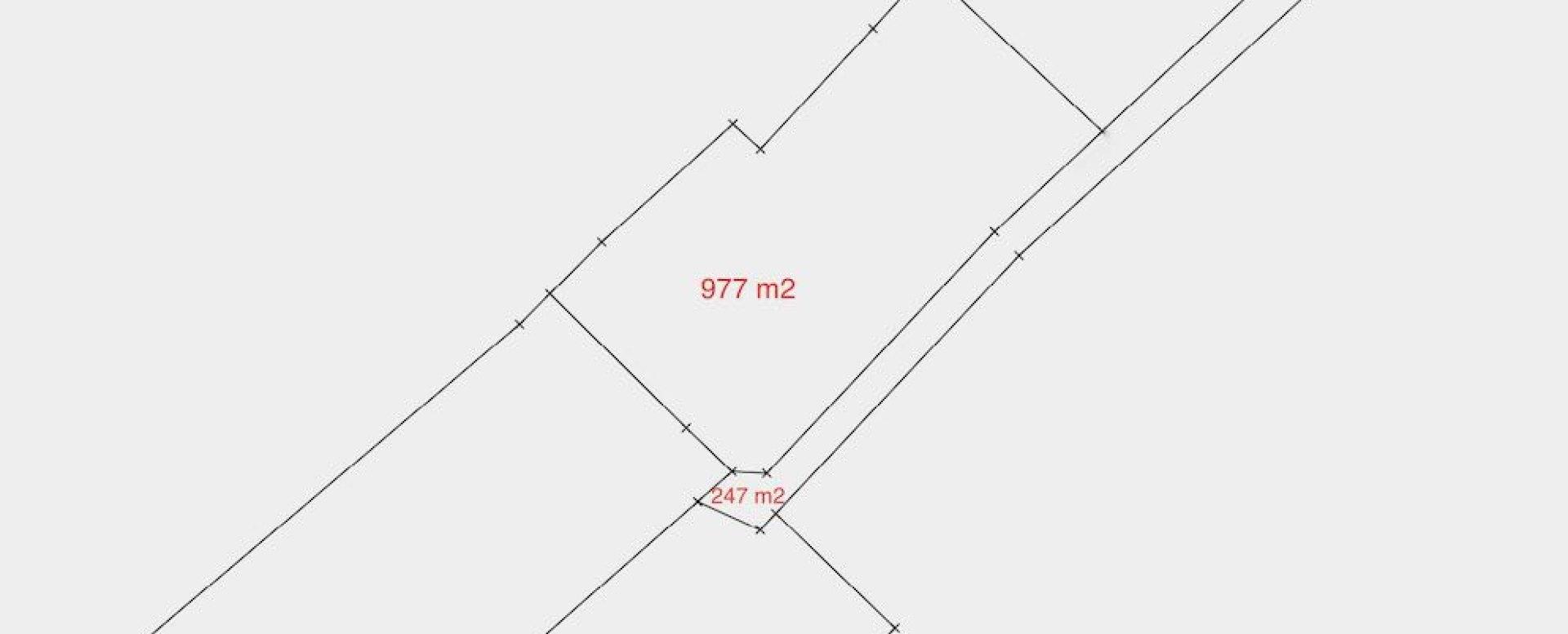 Pôdorys stavenmého na Vychylovke v Novej Bytrici