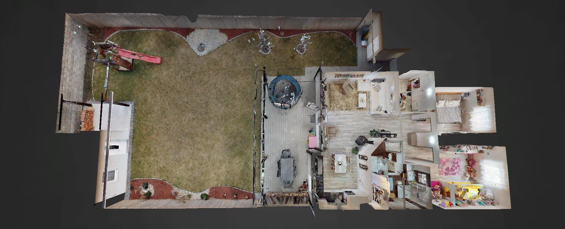 3D pôdorys Obývacia izba rodinnéhno domu v Mojši pri Žiline