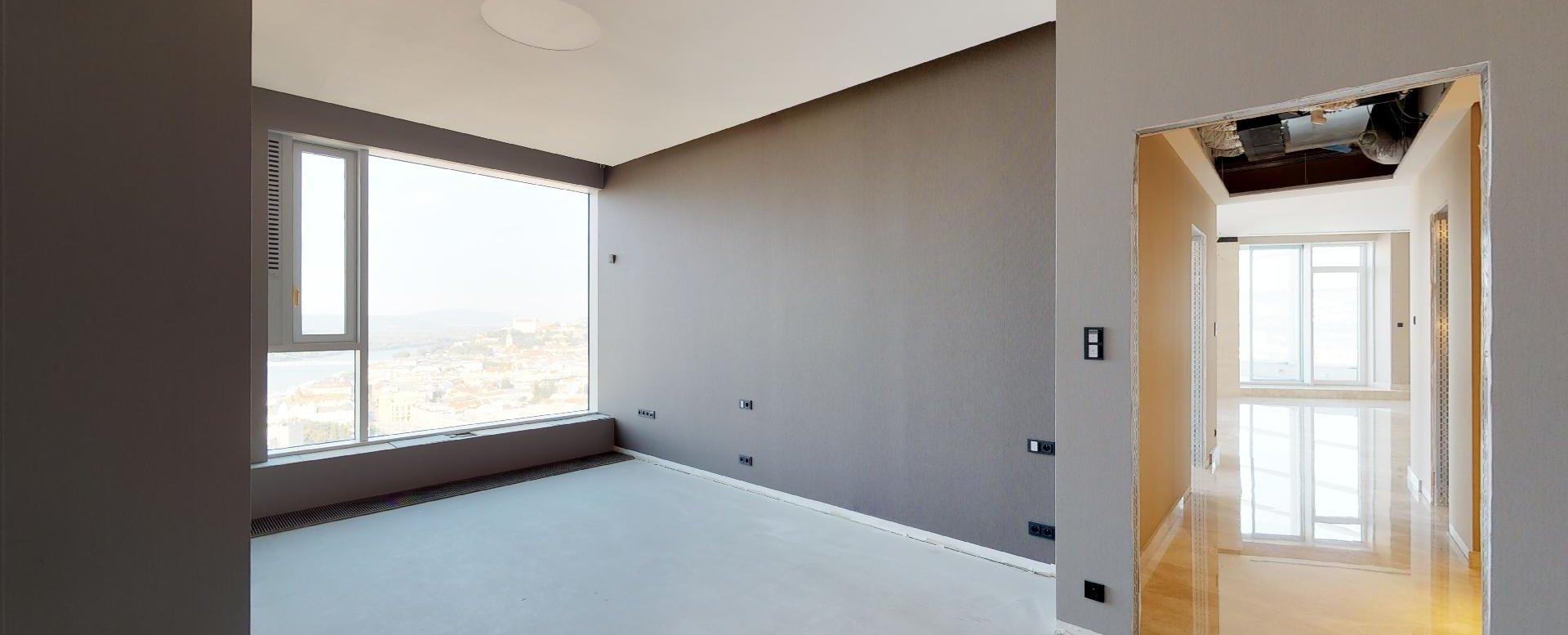 Spáľňa v penthouse v Panorama Towers