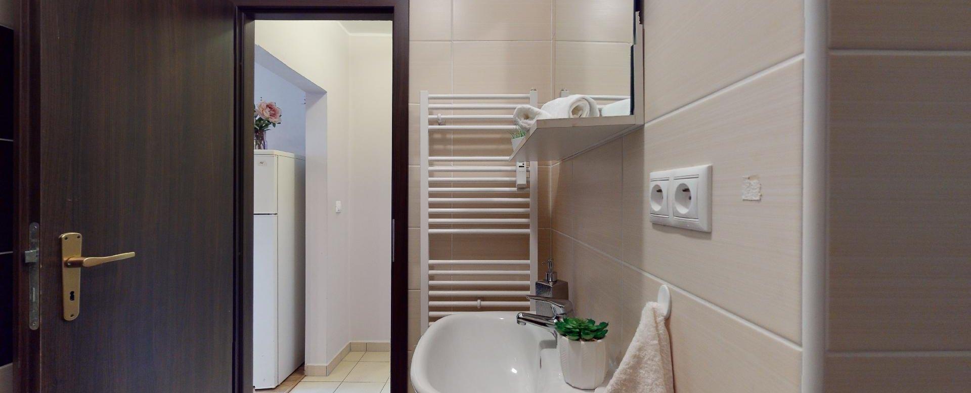 Kúpeľňa v 2-izbovom byte vo Vlčom hrdle