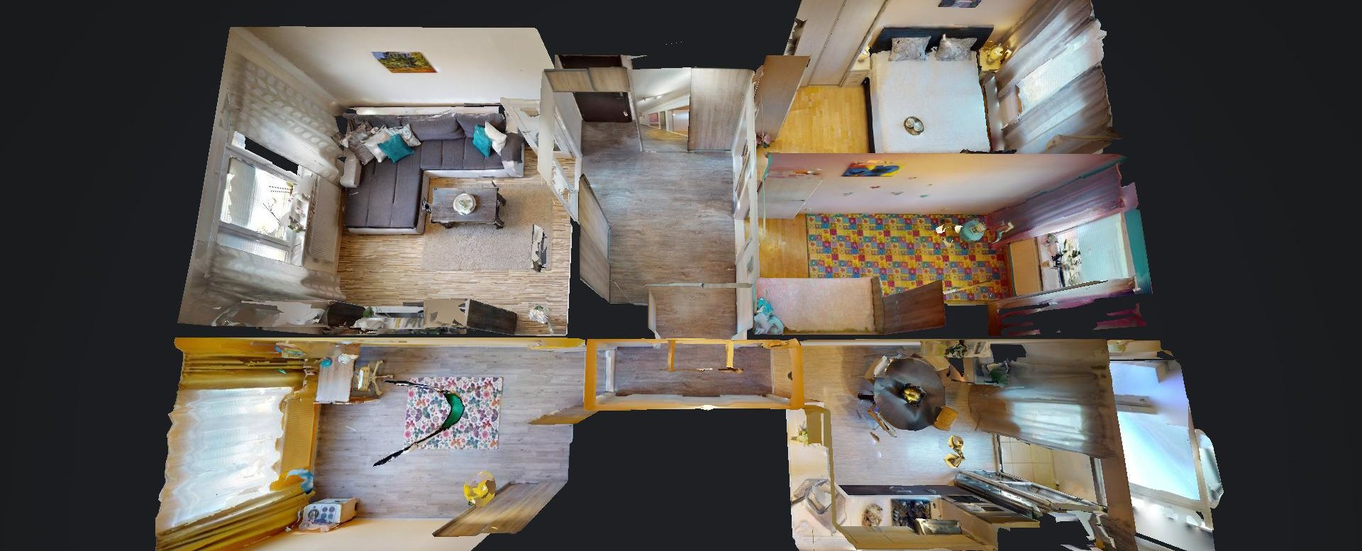 Pôdorys 4-izbového bytu