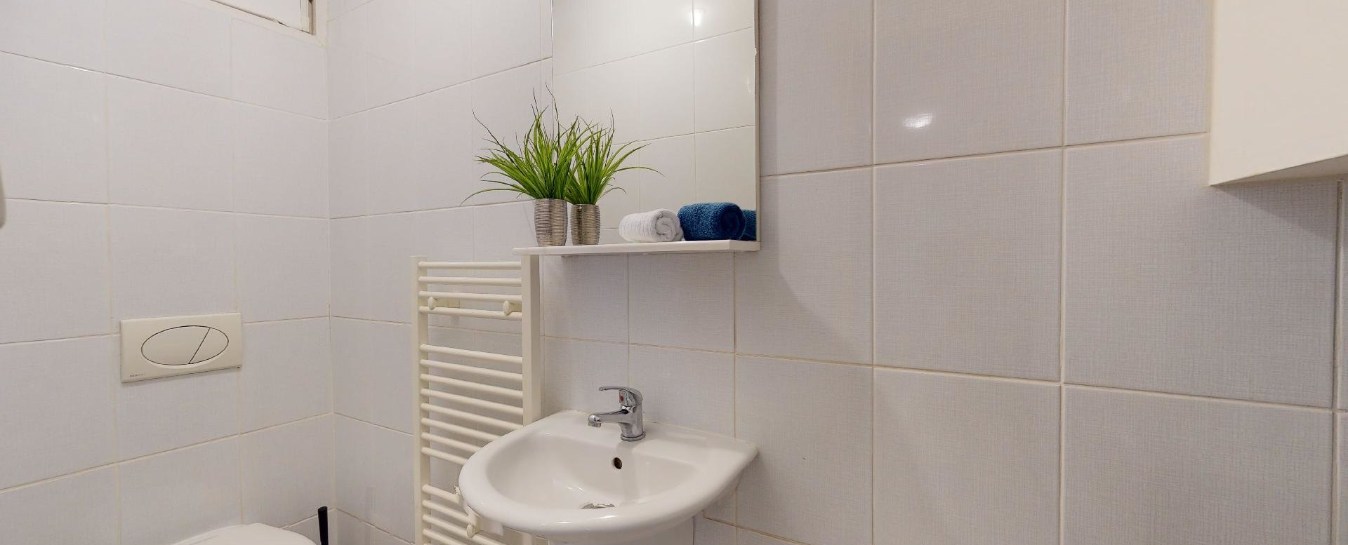 Toaleta 2-izbového bytu v Manderláku