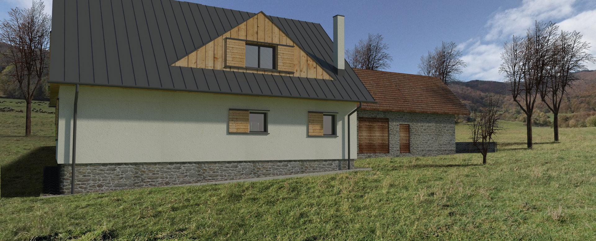 Vizualizácia rodinného domu 2