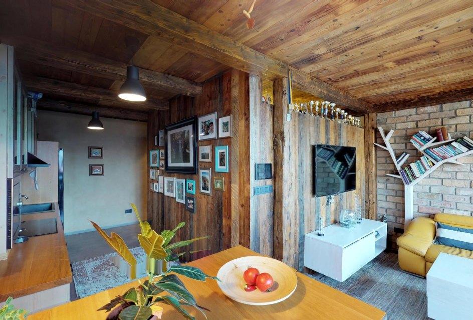 Kuchyňa s obývacou izbou v byte na Dieňovej ulici
