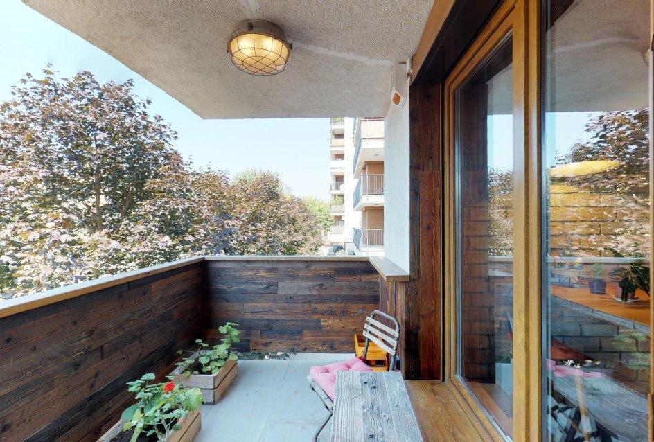 Balkón v byte na Dieňovej ulici