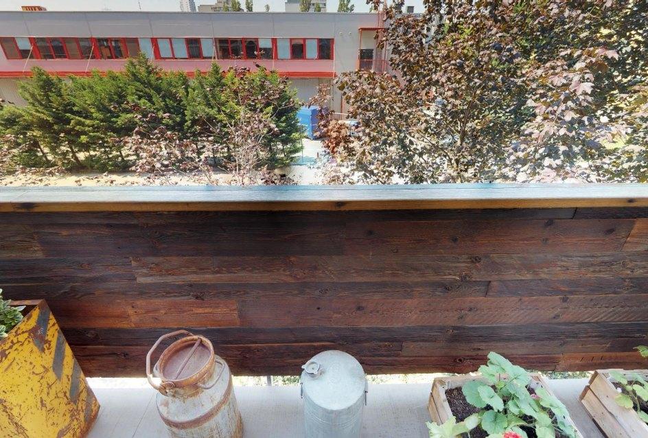 Výhľad z balkóna v byte na Dieňovej ulici