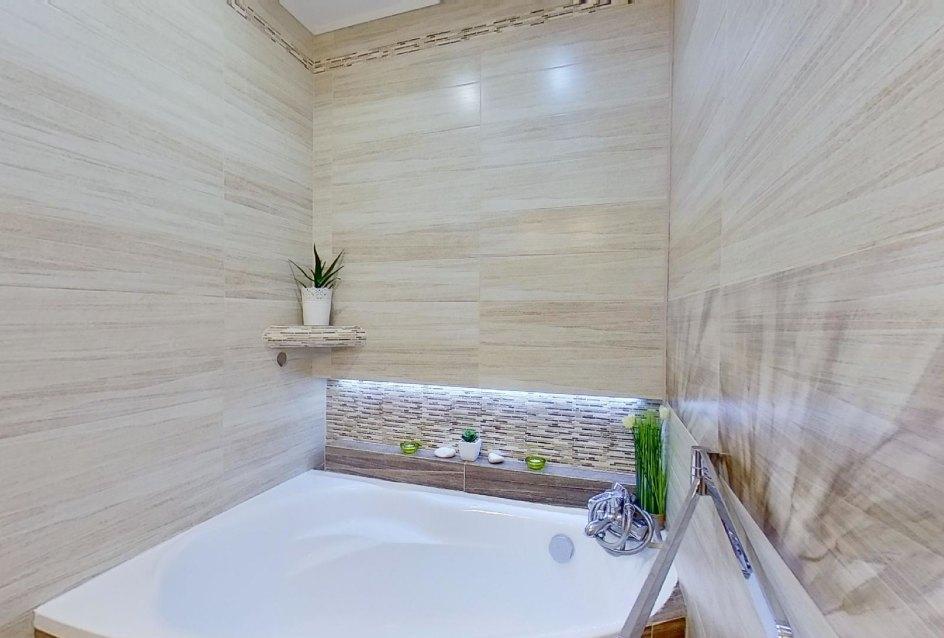 Kúpeľňa s vaňou v 2-izbovom byte na Školskej v Čadci
