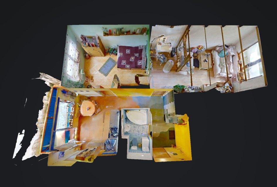 3D pôdorys 2-izbového bytu na Trnavskej v Žiline - Vlčince III.
