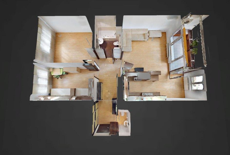 3D pôdorys 3-izbového bytu v Boria na Drieňovej v Bratislave