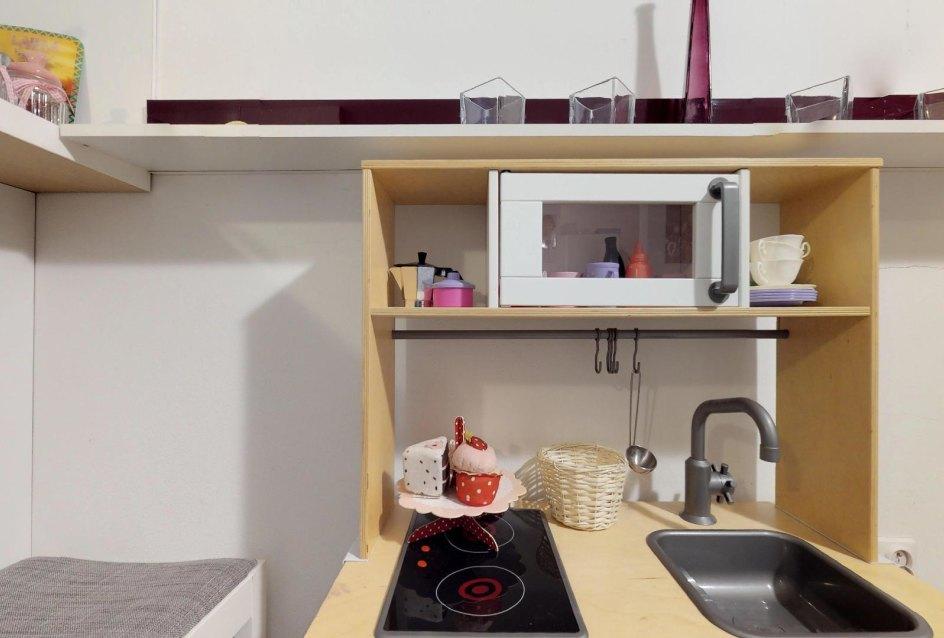 Detská kuchynka Zariadená obývacia izba v 3-izbovom byte v Kysuckom Lieskovci