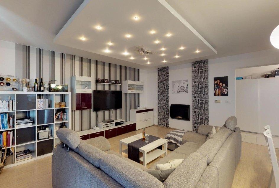 Zariadená obývacia izba v 3-izbovom byte v Kysuckom Lieskovci