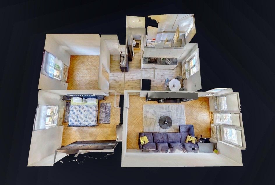3D pôdorys 3-izbového bytu na ulici M. R. Štefánika v Žiline