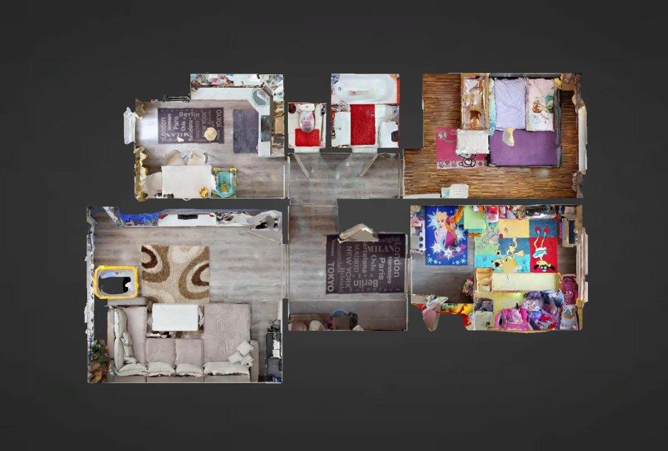 Pôdorys 3-izbového bytu v Čadci