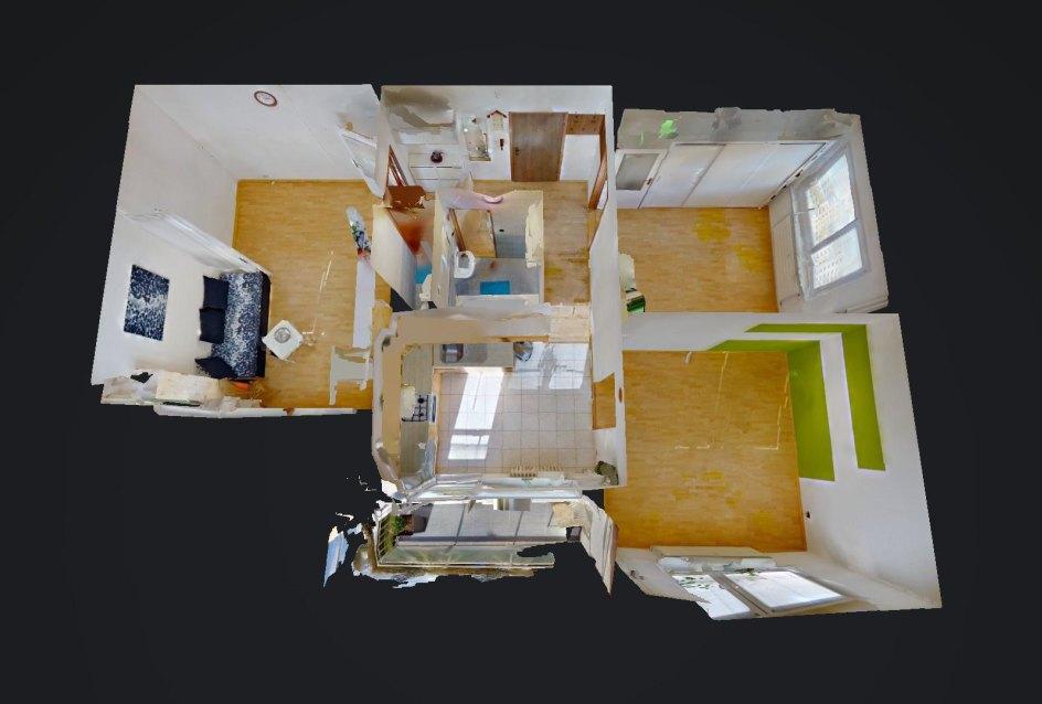 3D pôdorys 3-izbového bytu na Trnavskej ulici v Žiline - Vlčince