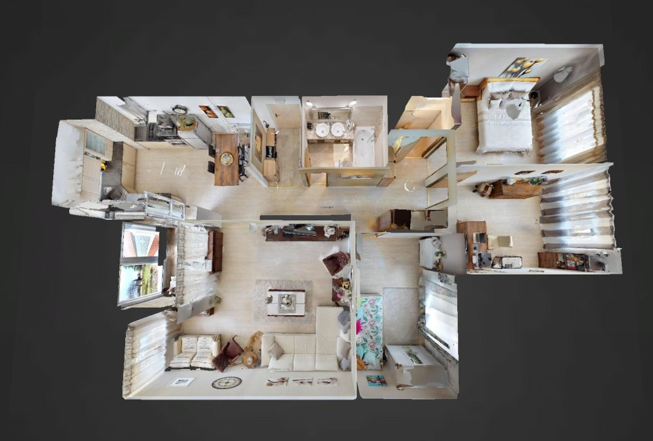3D pôdorys 4-izbového bytu na Internátnej ulici v Bratislave