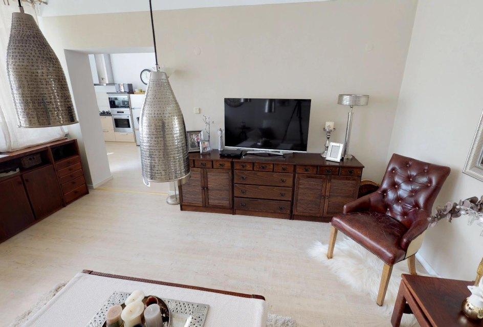 Obývacia izba v 4-izbovom byte na Internátnej ulici v Banskej Bystrici