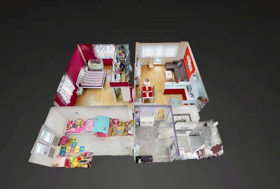 3D pôdorys 3-izbového bytu v Rezidencii Martinkov Potok