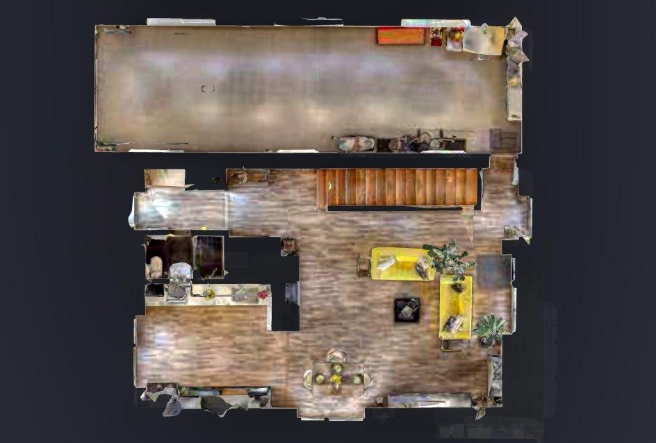 2D pôdorys prvého podlažia domu