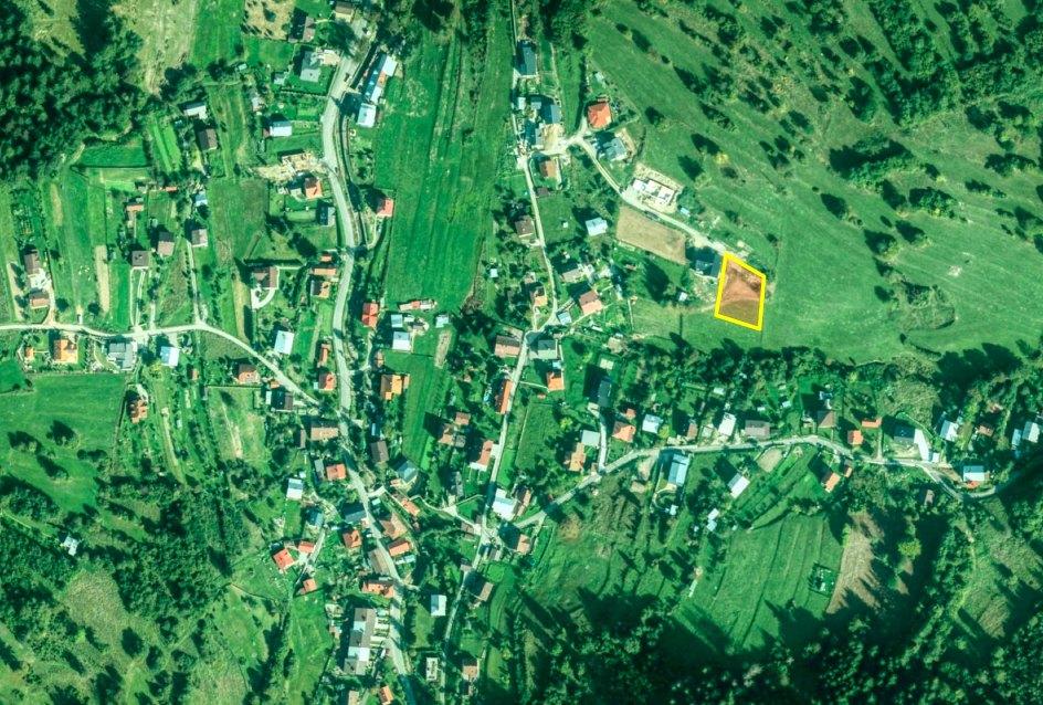 Letecký pohľad na stavebný pozemok, Čadca - Rieka