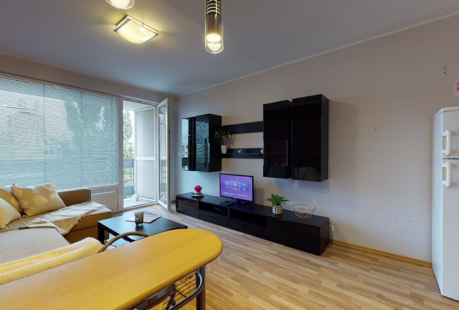 Obývacia izba v 2-izbovom byte