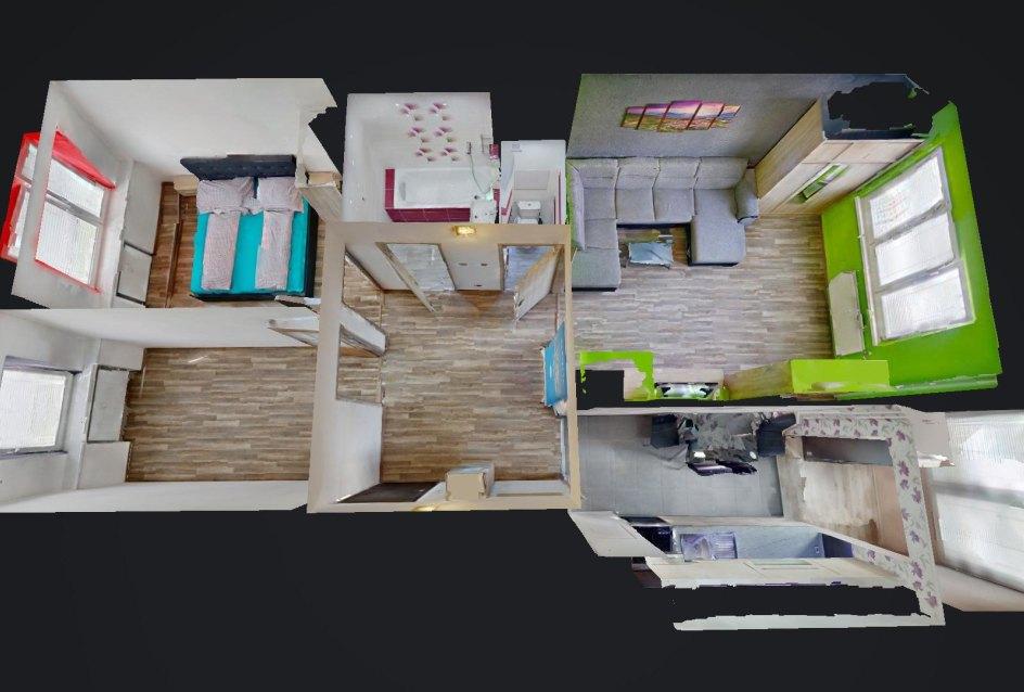 Pôdorys 3-izbového bytu