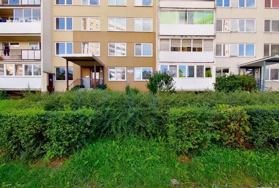 zeleň pri bytovom domer