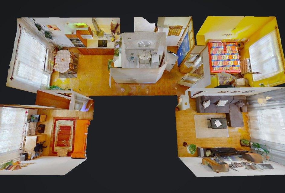 3D pôdorys 3-izbového byt na Jana Kráľa v Čadci
