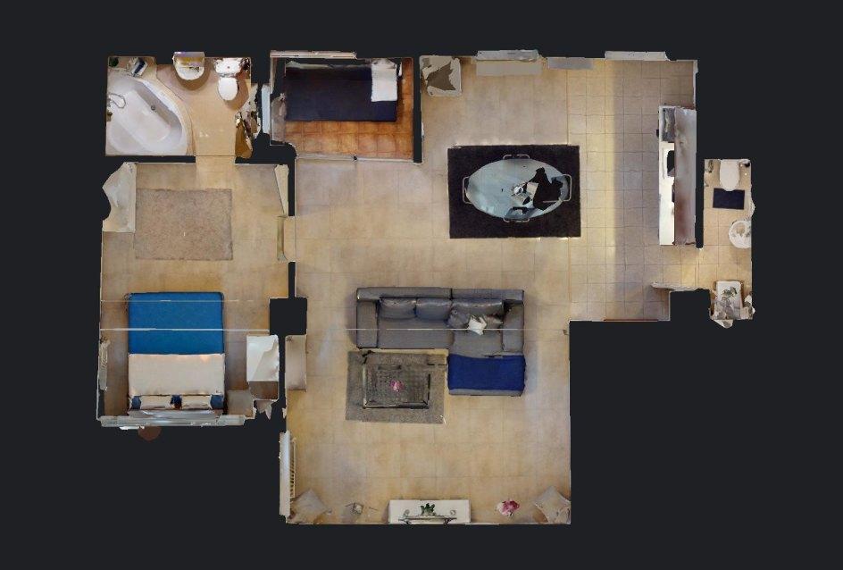 Pôdorys 2-izbového bytu v Manderláku