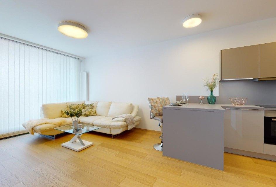 Obývacia izba spojená s kuchyňou