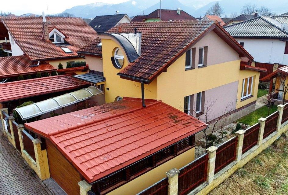 pohľad na dom z výšky