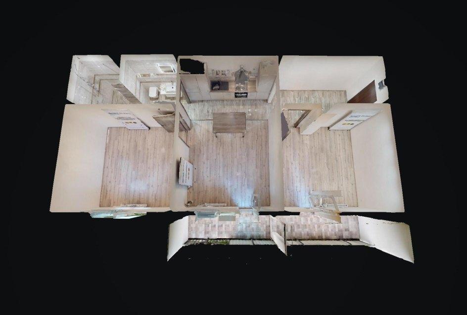 3D pôdorys 3-izbového bytu na Kozmonautickej ul. v Ružinove