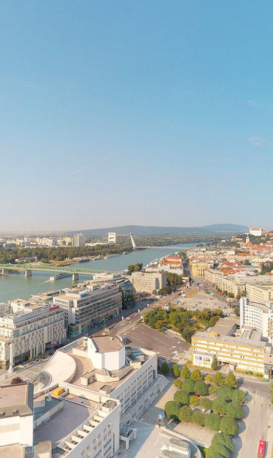 Prenájom nehnuteľností - výhľad z Panorama Towers